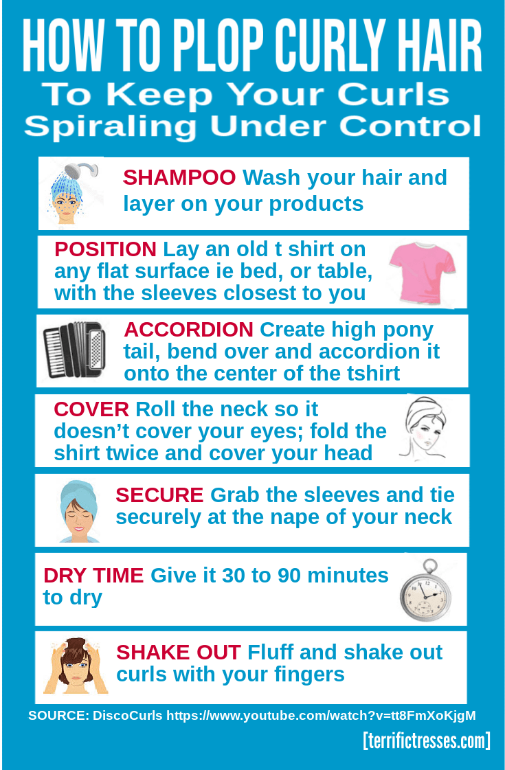 how to plop curly hair, curly hair plopping, what is plopping curly hair, plop hair for curls, what to do after plopping hair