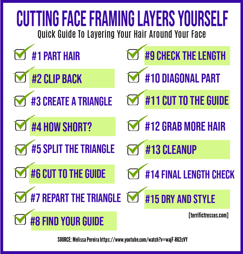 how to cut face framing layers yourself, how to cut face framing layers at home, cutting face framing layers, how to cut face framing layers