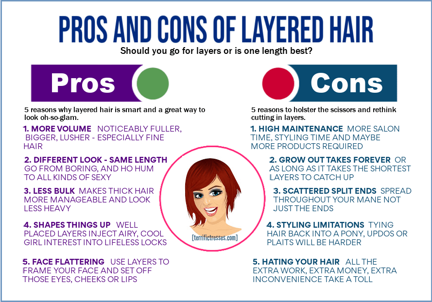 pros and cons of layered hair, benefits of layered hair, layered vs non layered hair, are layers good for thin hair, should I get layers in my hair, should I get layers
