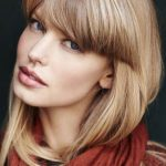 how to style blunt bangs