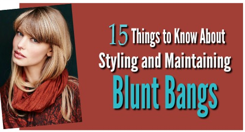 styling blunt bangs