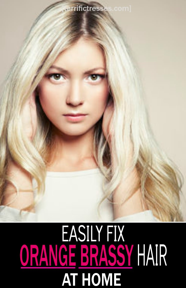 TerrificTresses.com did a Pinterest deep dive to come up with four DIY orange brass beating fixes.  This way you can easily remedy orange brassy hair color at home.  Remember this the next time your gone blonde color turns yellow on you or your highlights in brunette hair go orange.