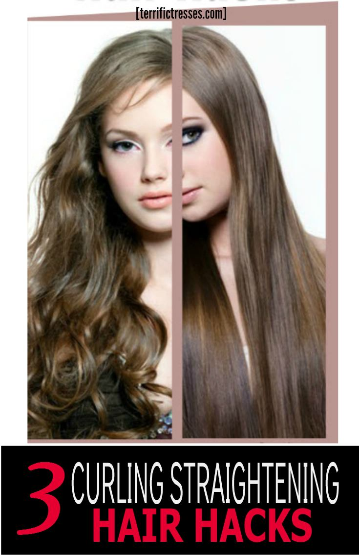 Can't make up your mind whether to go curly or straight?  It's like the ying and yang of hair care that possibly arises out of dissatisfaction, envy or our mind changing prerogative as women. Some days you're in a curly mood. Others you want to go straight. See if these hacks might not help bring a little sanity to your hair routine regardless of which way you choose to go. | TerrificTresses