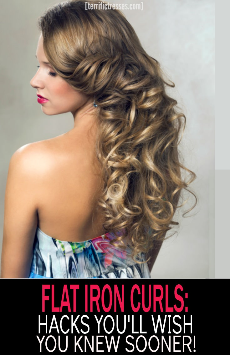 TerrificTresses.com digs up styling ideas like this – flat iron curls.  If you need to know how to do it watch step by step videos to guide to you to curling your hair with a straightener.  Easily get long lasting curls without damage.