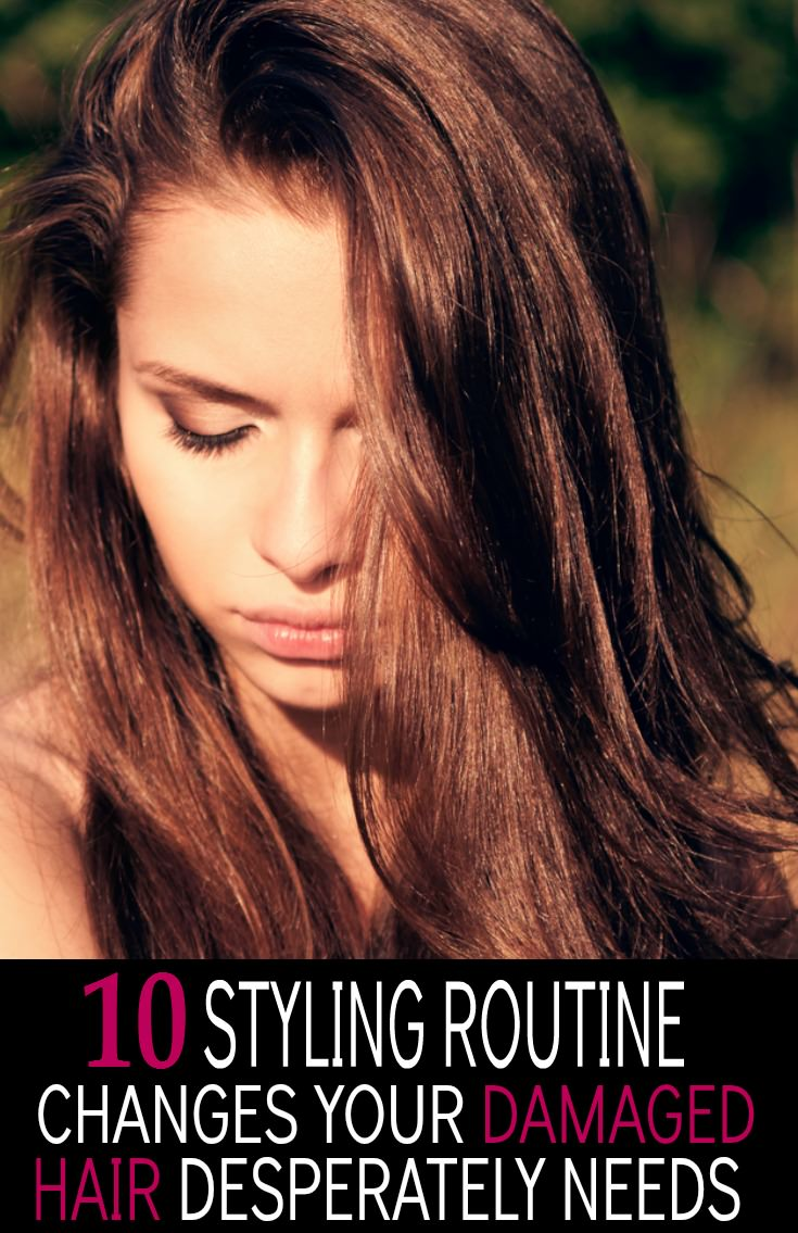 Stop hair abuse!  Make these 10 styling routine changes and begin to repair, rebuild and replenish your damaged hair.  It's easy.  Resolve to stop making some all too common hair care mistakes and perfect locks can be yours.  You're gonna love it!  | TerrificTresses.com