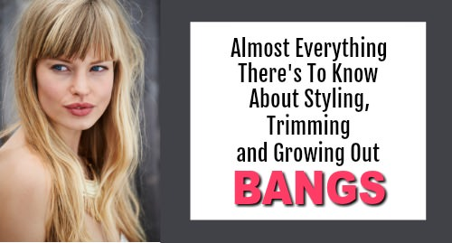 caring for bangs