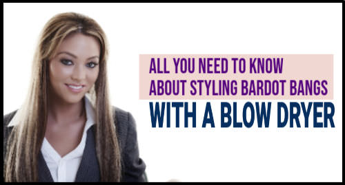how to blow dry curtain bangs