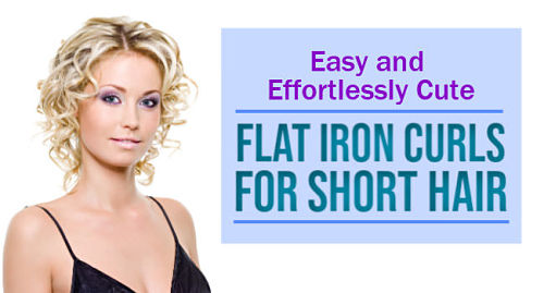 how to use a flat iron to curl short hair
