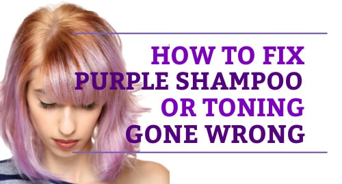 how to fix over toned purple hair