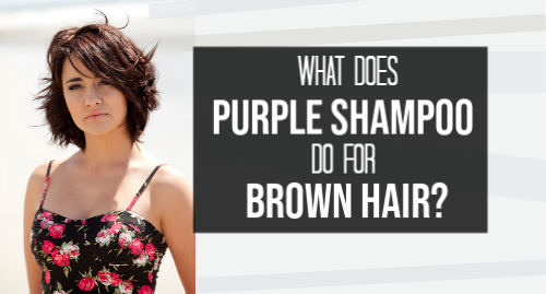 what does purple shampoo do to brown hair