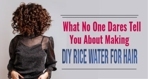 DIY rice water for hair