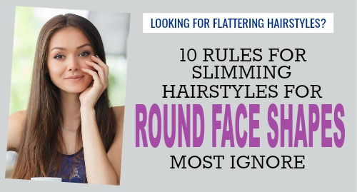 hair styles round face shape
