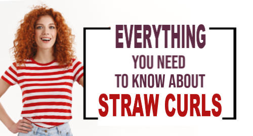straw curls tutorial, tight curls with straws, heatless curls with straws