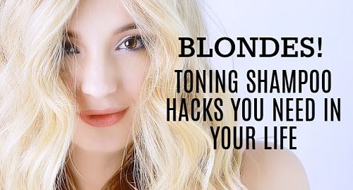 toning shampoo for blondes