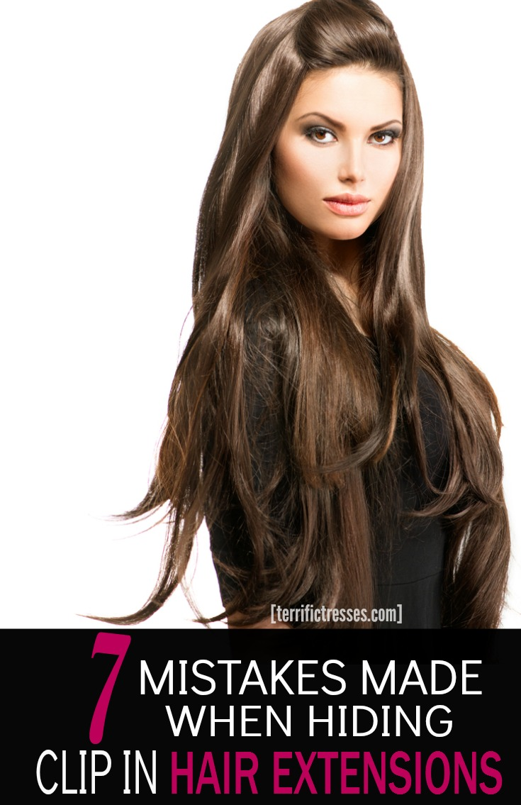 TerrificTresses has uncovered seven common mistakes made with clip in hair extensions that can keep them from being properly hidden.  Knowing about hiding the wefts in your natural hair is must have info.  Luckily it's easy to blend them with your natural hair so all anyone sees is your full, thick, bountiful mane!