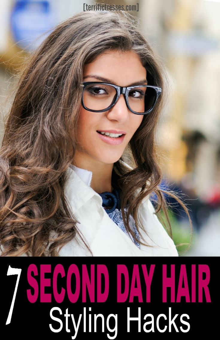Washing your hair daily is a hassle and hard on your hair. That's why you need to know how to work with second or third day hair so it is not oily or greasy and may even display some volume.  You can rock cute hairstyles and hide the truth with the help of a key products.  | TerrificTresses.com