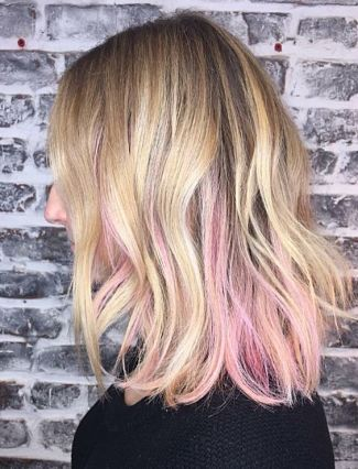 pink hair highlights