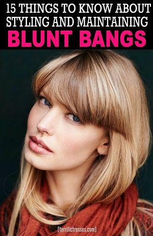 pin blunt bangs