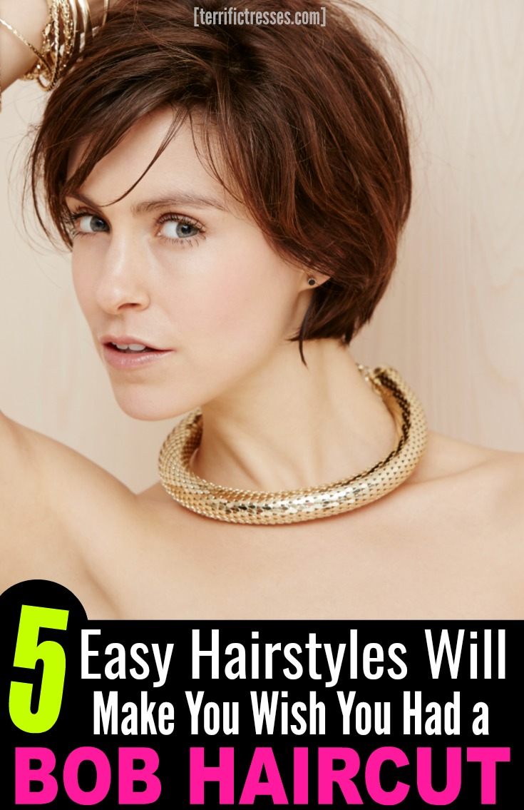 Styling short hair can be daunting.  Yet did you know you can style a bob haircut many ways?  Short and textured. Messy. Wavy. Curled. Braided even. Each cuter than the next. These five simple step-by-step tutorials show you how to quickly change your look in just minutes. | TerrificTresses.com