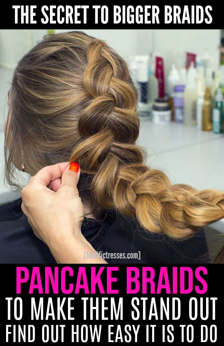Love those big, romantic, boho braids you see all over Pinterest or Instagram? Yet you can't pull off bigger braids no matter how hard you try? Tried pancaking them? Yeah sounds like you need a pancake braids tutorial that shows you how to turn ordinary side, Dutch or half up braided hairstyles into something extraordinary. | TerrificTresses.com #Braids #BraidedHairstyles #BraidInspiration #DutchBraid