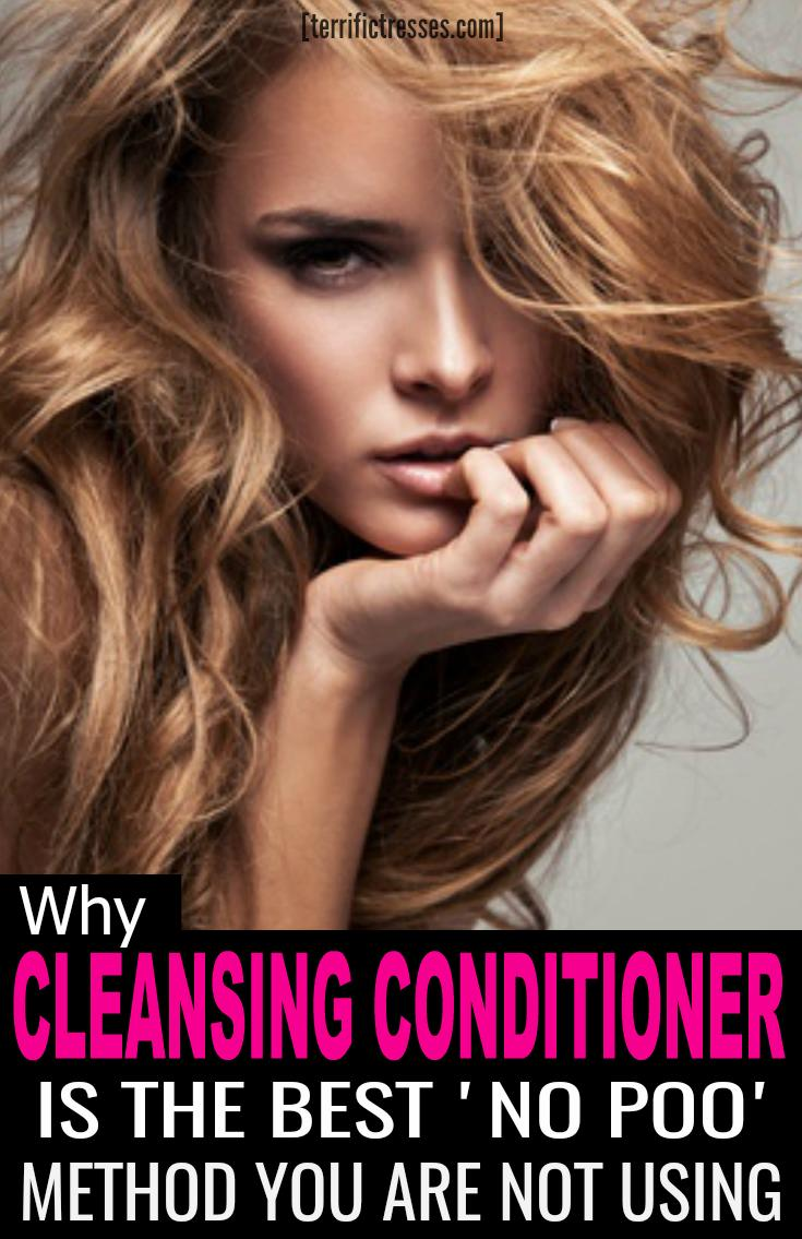 Cleansing conditioners. Bet you've seen them, read about them, and possibly thought about trying them yourself. It's also possible you have a load of questions about no poo and co wash. Get the answers you need to 9 common questions to find out if co washing is right for you. | TerrificTresses.com #NoPoo #HealthyHair #HairTips #HairHowTo