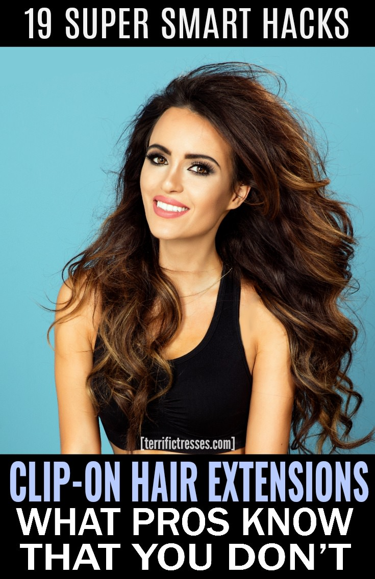 The popularity of clip on hair extensions continues to grow. Maybe it's because of all the fun hairstyles open to you now. With the right placement lush pony tails, fuller half up updo styles, even fat, standout braids are doable. You just have to know how to put them on to fake it properly. With a short bit of binge video watching you'll come away with more than 19 smart clues on how to best use them that are simple and just sneaky enough to keep people guessing. #ClipOnHairExtensions
