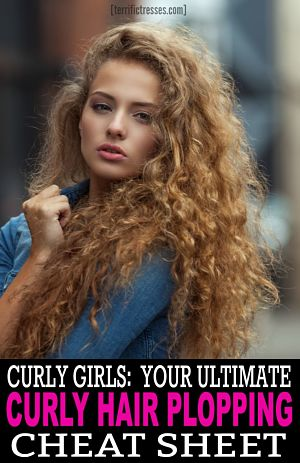 curly hair plopping how to pin
