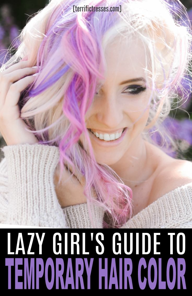 Looking for a temporary pastel hair color?  Heard you can dye your hair with Koolaid?  You want to give it a whirl but don't know how exactly? This quick tutorial will let you in all the secrets. | TerrificTresses.com