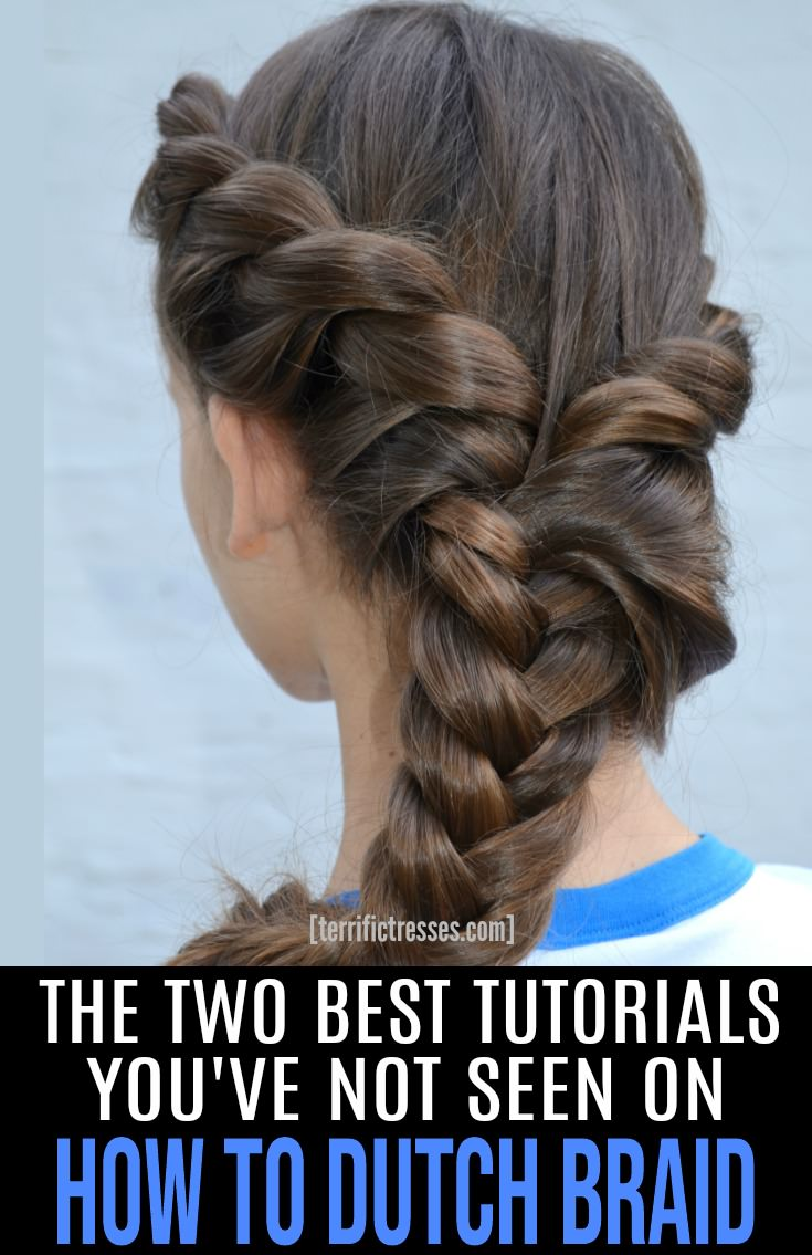 Here's another of the easier than it looks hairstyles, ridiculously pretty Dutch braids. This step by step tutorial gives you the tips and tricks of the trade you need to do the hairstyle on your own hair. | TerrificTresses.com #Braids #BraidedHairstyles #BraidInspiration #DutchBraid