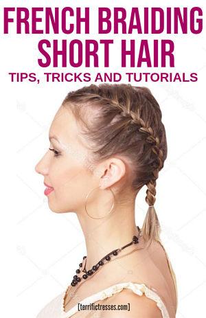 french braid short hair tutorial