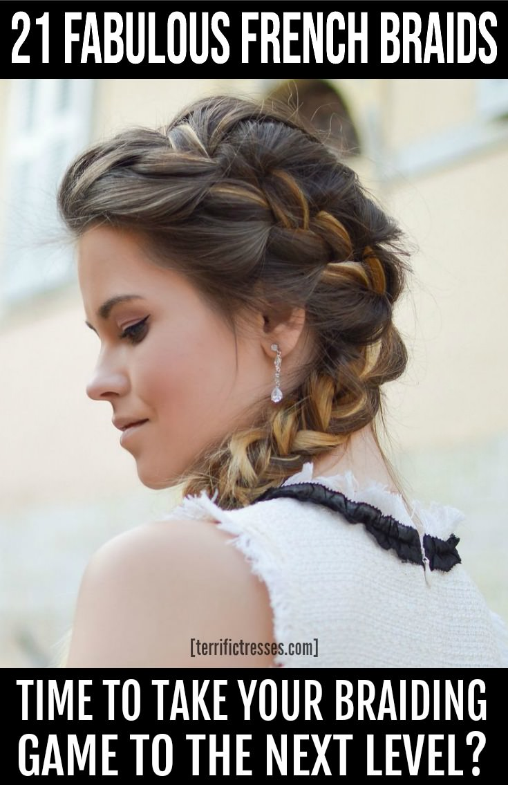 If it's time to up your French braiding game then these 21 super cute French braided hairstyles offer the inspo you need. Simple but elegant plaits like these worn up or down make for popular hairdos with a boho vibe. So if time is short and you're tired of pony tails, updos, or messy buns check out these 21 amazingly awesome braids. #CuteFrenchBraidedHairstyles #FrenchBraidedHair #FrenchBraids