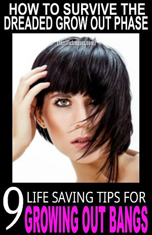 pin tips for growing out bangs