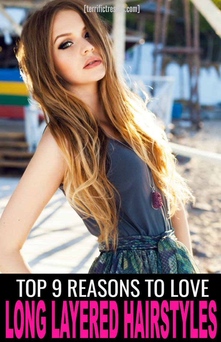 Think long hair has to just hang there all plain and boring and all?  Think again.  Layers can work sexy magic while adding some serious style, structure and flair to your 'do.  In fact here are 9 things to love about long layered hair styles.  The fourth is not to be missed. | TerrificTresses.com