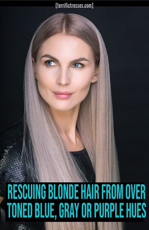 how to get rid of blue hair from toner