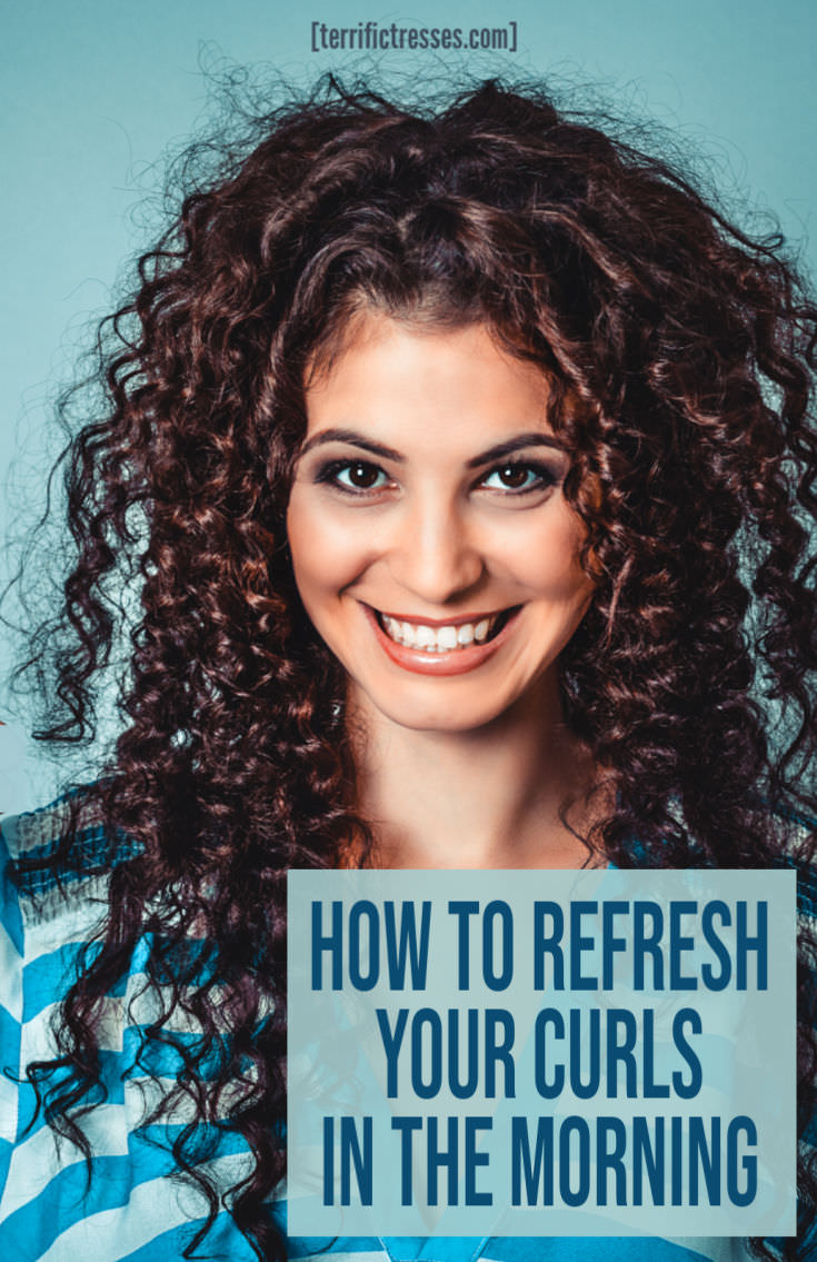 How To Refresh Slept On Curly Hair With A Spray Bottle