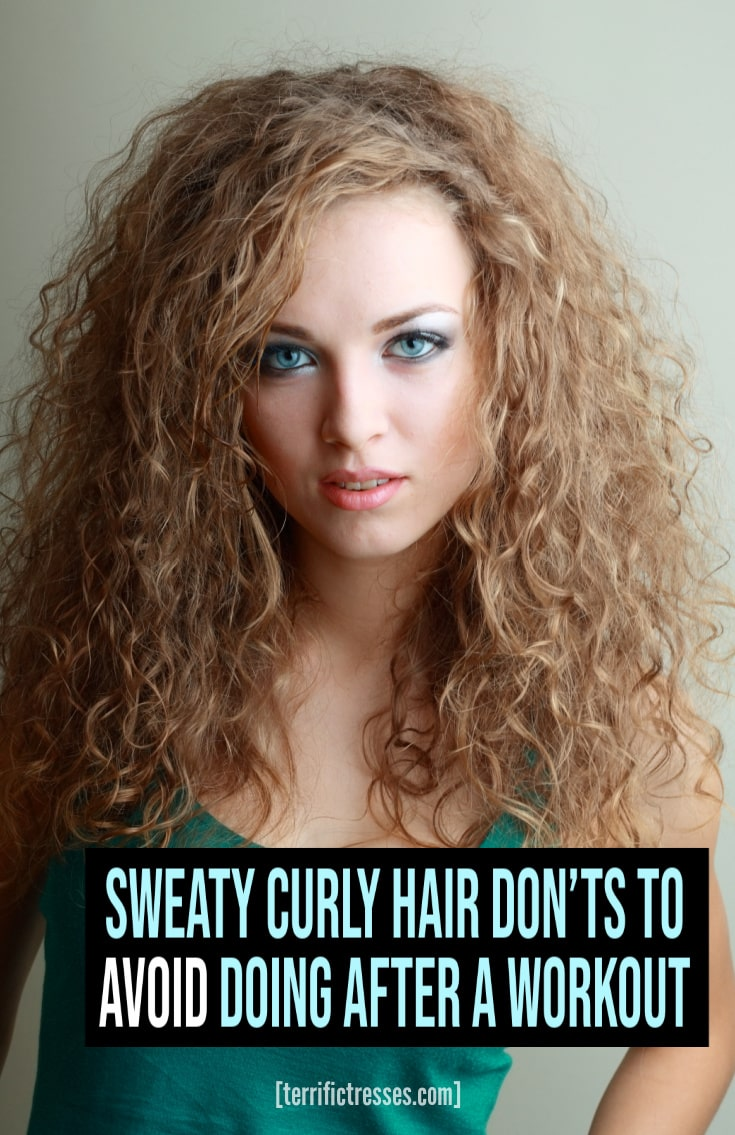 The Don'ts That Dummy Proof Sweaty Curly Hair After a Workout