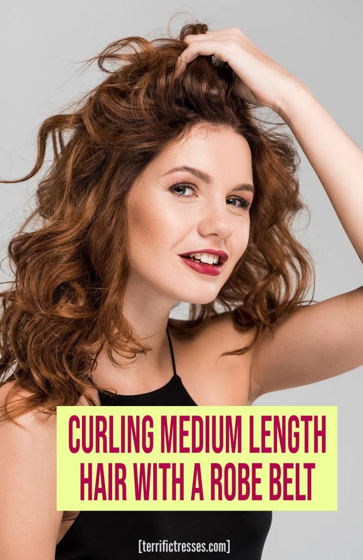 Robe Belt Curling Medium Length Hair