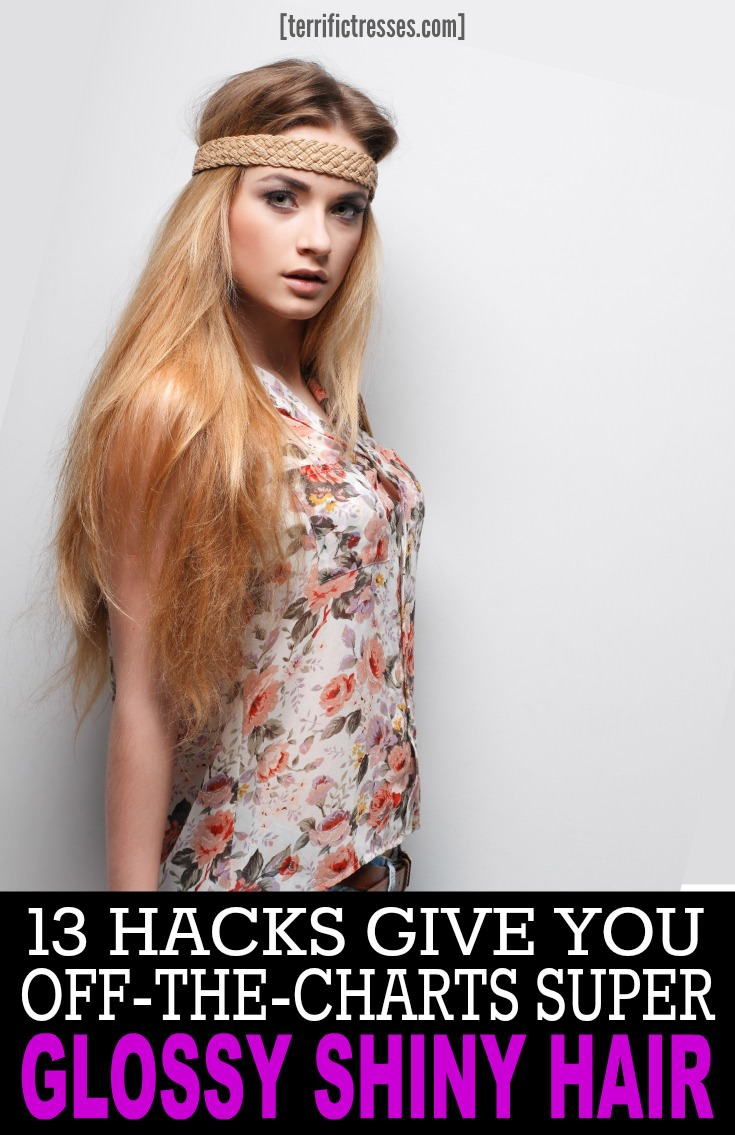 Is your hair suffering through a serious shine outage?  Lust for seriously blinding sheen instead?  Hey.  Diamond like luster doesn't just happen. You can't just flick a switch.  But as these luster busters and boosters show super luminosity can be made to happen – or not.  Fact is apply these 13 hacks and you'll generate insane amounts of shimmering gloss.  So much so all around you will need to wear shades.  Just imagine how that will feel. | TerrificTresses.com