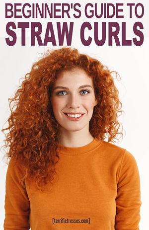 straw curls tutorial