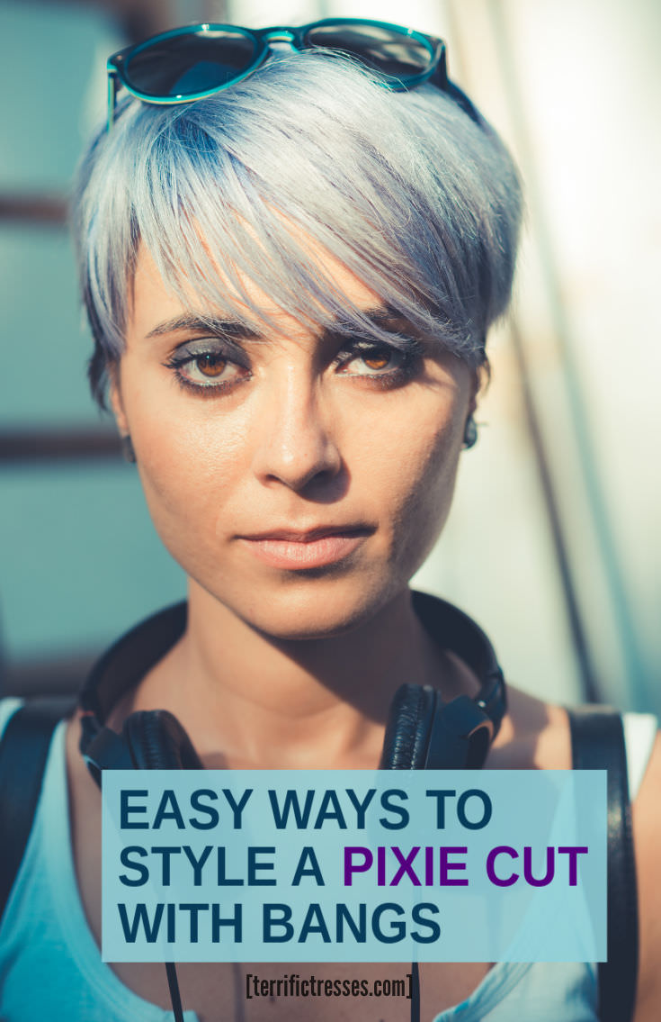 Pssst! Here's How To Style A Pixie Cut With Bangs