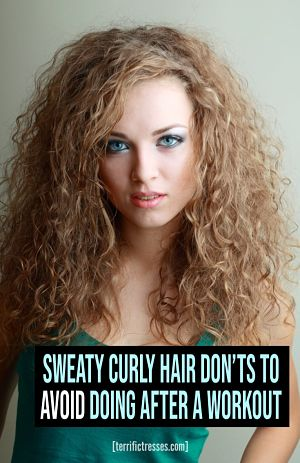refreshing sweaty curly hair after a workout