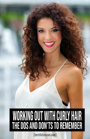 workout hairstyles for curly hair