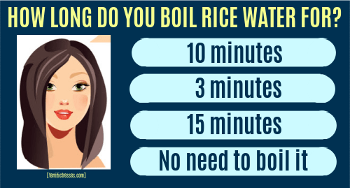 boiled rice water for hair