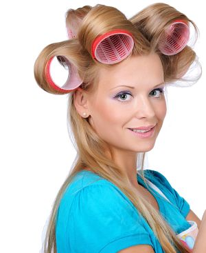 how to use velcro rollers on long hair