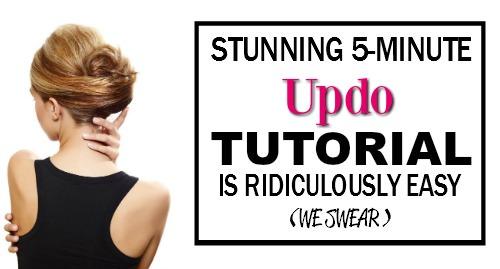 easy updo tutorial