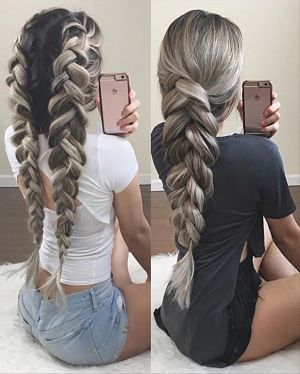 two pancaked braids