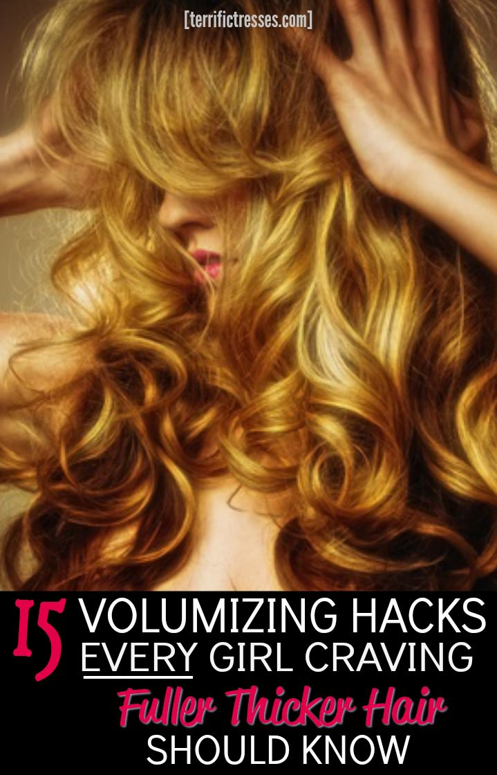 So how many of those 15 hacks are you using to take volume to the next level?  Certainly the texture you've got to work with is largely a result of your genes.  But there are super easy game changing mane moves anyone can do to fake fuller thicker looking hair.  This one is a must read for every girl who wants to get the hair she's dreamed of but never knew how to pull off.  Make way for gorgeous lusher locks. | TerrificTresses.com